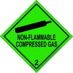 Non flammable gas 2 label